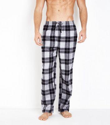 Black Check Pyjama Bottoms New Look