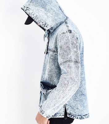 Blue Denim Hoodie New Look