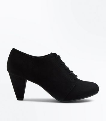 Teens Black Suedette Lace Up Shoe Boots New Look