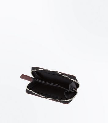 Burgundy Patent Zip Around Cardholder New Look