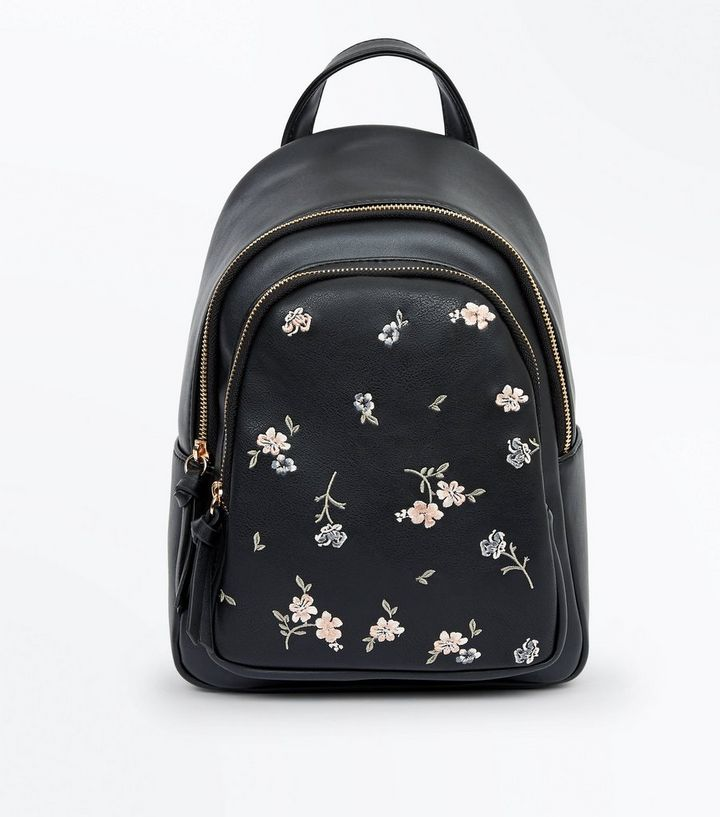 purchase genuine various kinds of well known Black Floral Embroidered Mini Backpack Add to Saved Items Remove from Saved  Items
