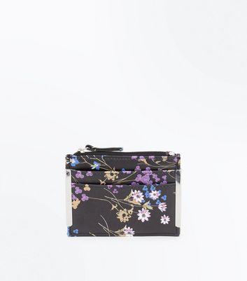 black-floral-print-cardholder