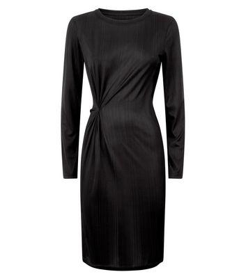 JDY Black Twist Side Jersey Dress New Look