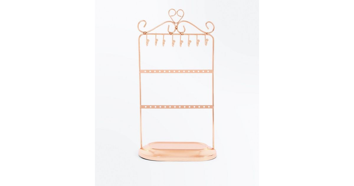 Rose Gold Jewellery Stand New Look