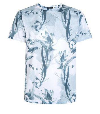 White Floral Print T-Shirt New Look