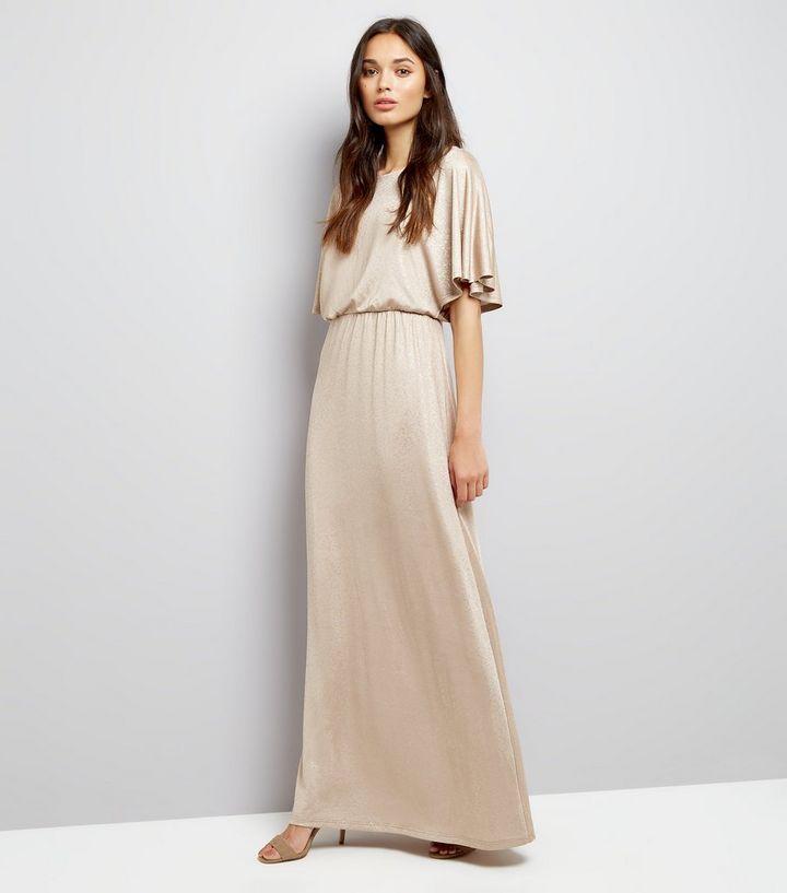 60d3d1307af Mela Gold Kimono Sleeve Maxi Dress