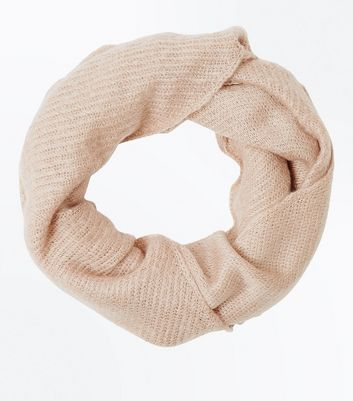 Pink Knitted Snood New Look