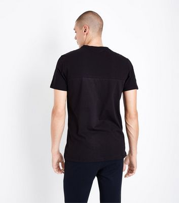Black Zip Pocket T-Shirt New Look