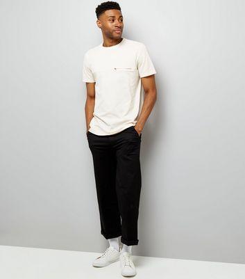Shell Pink Zip Pocket T-Shirt New Look