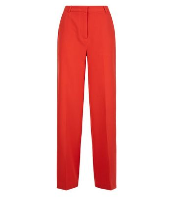 Red Wide Leg Trousers New Look