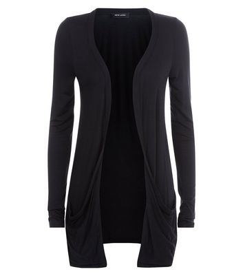 Tall Black Longline Cardigan New Look