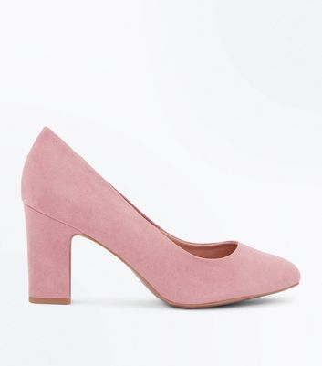 Wide Fit Pink Comfort Flex Court Shoes New Look