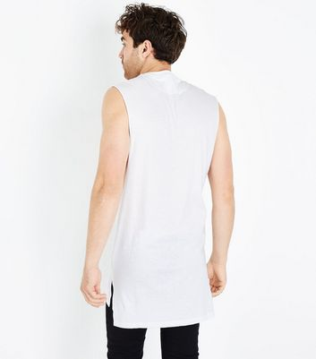 White Fearless Longline Tank Top New Look