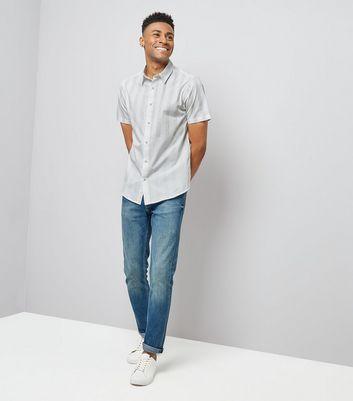 White Stripe Short Sleeve Shirt New Look