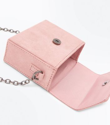 Shell Pink Embellished Micro Cross Body Bag New Look