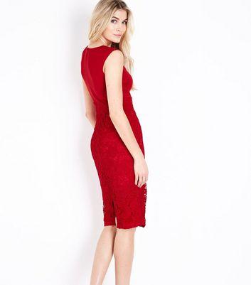 AX Paris Lace Skirt Midi Dress New Look