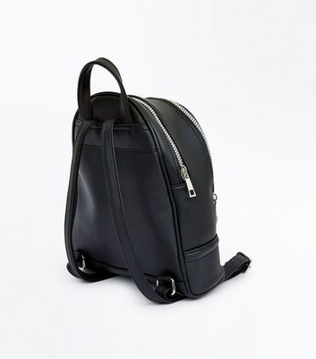 Black Star Embellished Mini Backpack New Look