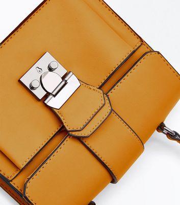 Yellow Top Handle Bag New Look