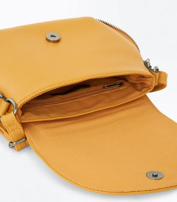 Yellow Curve Shape Saddle Bag New Look