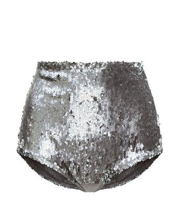 c72546979296e1 Short de pyjama taille haute couleur étain à paillettes Ajouter à la  Wishlist Supprimer de la Wishlist