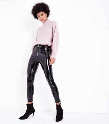 deseos parisinos en pitillo Añadir Pantalones a cuero la de Eliminar negros lista sintético de 0Nvn8mw