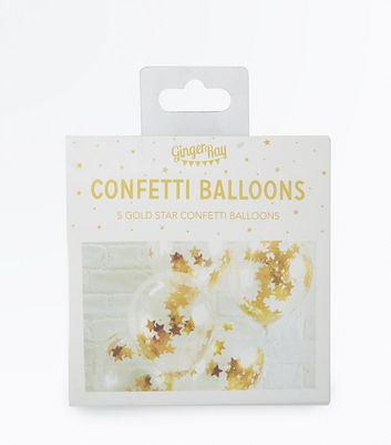 Gold Star Confetti Balloons New Look