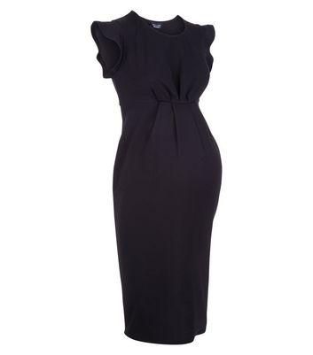 Maternity Black Cap Sleeve Dress New Look