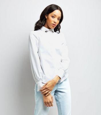 White Jewel Collar Shirt New Look