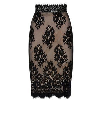 parisian-black-scalloped-lace-midi-skirt