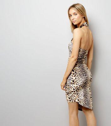 Parisian Leopard Print Cross Strap Dress New Look