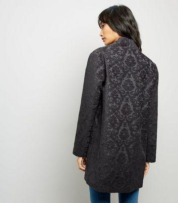 Black Jacquard Kimono New Look