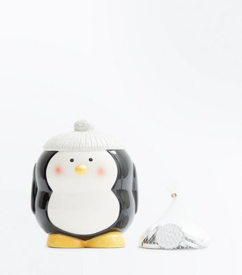 Black Penguin Money Box New Look