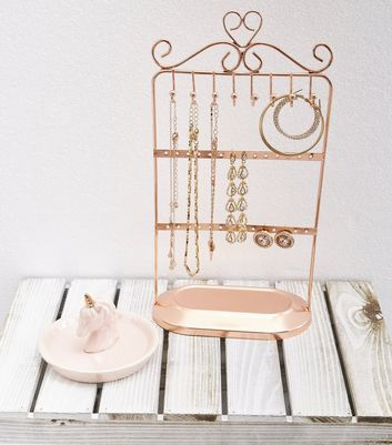 Rose Gold Jewellery Stand Holder New Look