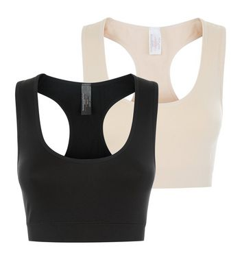 Maternity 2 Pack Black and Stone Bralets