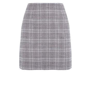 Brown Prince of Wales Check Mini Skirt New Look