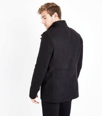 Black Military Coat New Look