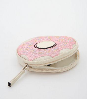 Doughnut Zip Top Purse New Look