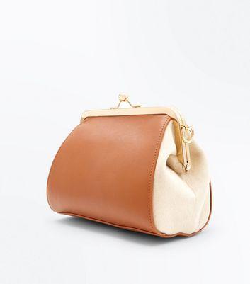 Tan Contrast Oversized Bag New Look