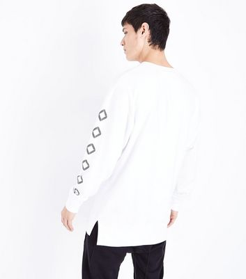 White Destroy Slogan Front Sweatshirt New Look