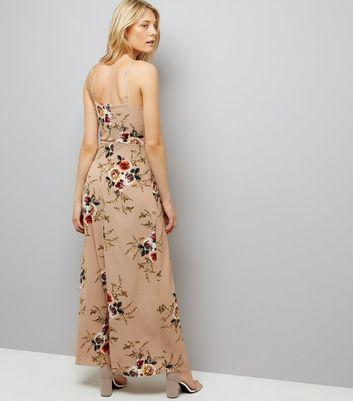 Parisian Cream Floral Print Split Side Maxi Dress New Look