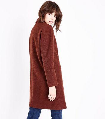 Rust Cocoon Coat New Look