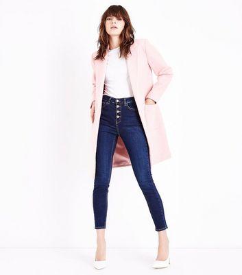 Pink Cocoon Coat New Look