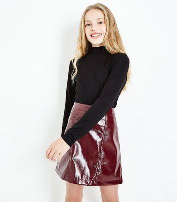 Teens Black Funnel Neck Long Sleeve Top New Look