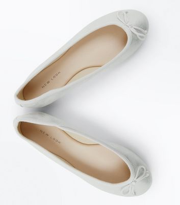 Silver Shimmer Ballet Pumps New Look