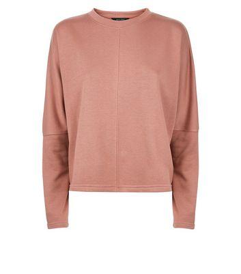 Light Brown Batwing Sleeve Sweatshirt New Look