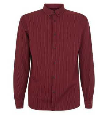 Red Gingham Long Sleeve Shirt New Look