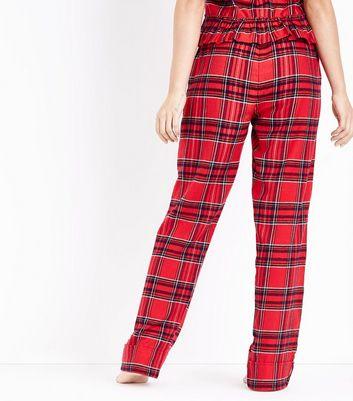 Red Tartan Flannel Pyjama Bottoms New Look