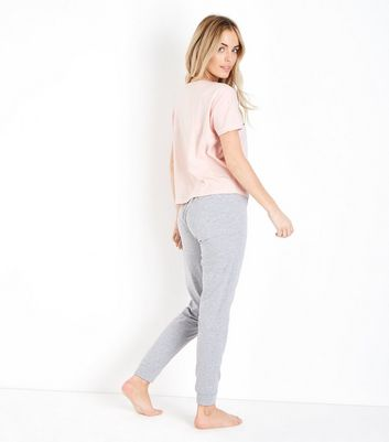 Petite Pink You Guac My Wold Slogan Pyjama Set New Look