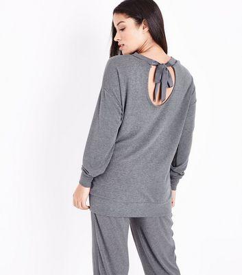 Maternity Dark Grey Jersey Sweatshirt New Look