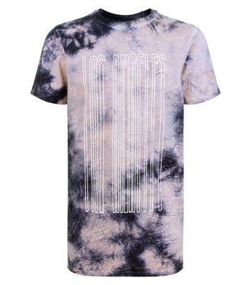 Pink Los Angeles Tie Dye T-Shirt New Look